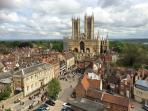 Lincoln Cathedral taken from Lincoln Castle