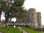 Ypres Castle in Rye, one of many attractions within a few miles of Rock Lobster.