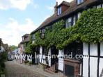 Mermaid Street in Rye (3 miles away) is one of the prettiest cobbled streets in the UK.