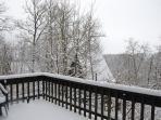winter balkon met uitzicht tot aan Durbuy