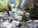 Waterfall from the Arrochar Alps