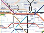 Closest Tube Stations on Jubilee Line