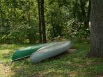 Two canoes available with rental.  Life vests and oars included!