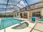 Spacious pool and patio