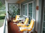 Balcon privatif de la chambre Orange.