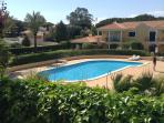 View of pool from our garden