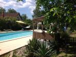 Large 15m+ x 4.5m pool with roman end, ideal for both children and serious swimmers - 2m deep end
