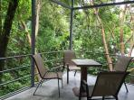 porch with great views of the jungle