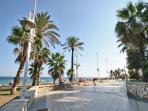250m, the seafront promenade Antonio Banderas