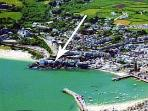 Rock Cottage location, near Porthminster beach and the harbour.