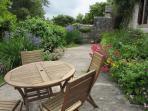 Garden seating.