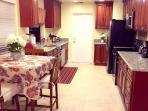 kitchen  stainless appliances whole view