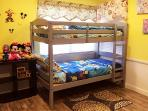 Room #4,kids room,3 twin bunk bed, have a sweet dream with Disney chracters