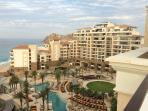 From our room this is a view of the Grand Solmar Resort