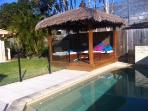 Relax and enjoy the pool and Bali Hut!!...soak up the sunshine !