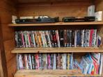 The TV area includes a wide range of DVDs to watch on cold evenings after a day out