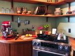 The kitchen is well equipped with everything you'll need; perfect for those who love to cook!