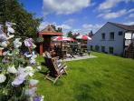 Beer Garden at The Black Swan, Culgaith