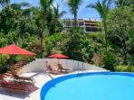 Pool and Deck below Villa CalaLuna