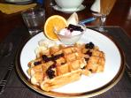 Breakfast is served up in the renovated church or enjoy a continental breakfast in the RV.