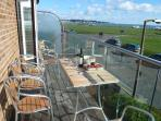 Balcony set for lunch