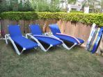 Quality Sun Loungers for your use, in garden or by the pool.