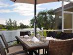 Enjoy unforgettable sunsets and sundowns during breakfast and dinner outside