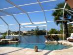 Infinity edge pool and spa