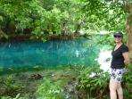 A visit to the Blue Holes is a must.