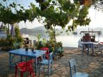Early morning, and one of the wonderful local cay (tea) restaurants along the waterfront