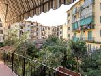 The terrace & the inner courtyard. An oasis of peace with a peek into a typical Italian neighborhood