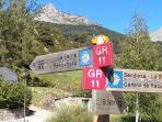 recorridos senderismo diversos niveles desde Sallent de Gállego