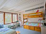 Upstairs Bedroom with Bunk Bed and Trundle Bed