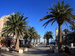 Glenelg is a beachside town and great beach; only 10km away. Bus and tram will get you there easily