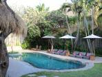 Beautiful pool area for sunbathing