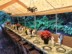 Tent Patio and Candle Chandeliers (options)