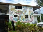 Murial by famous Vanuatu artist Aloi Pilioko