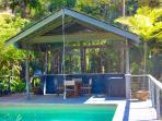 Pool cabana and bbq area