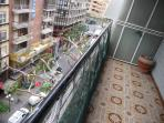 small part of the balcony on the Las Ramblas.