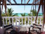 terrace of the room with beach view
