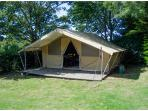 Safari tent available for hire