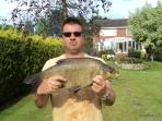 Private fishing at the end of the garden