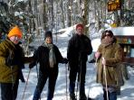 snowshoeing at kane mountain or right on the lake!  Lapland 15 mins away- best in NE!