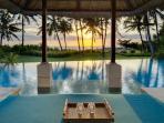 Sunset from the Pool Bale at Villa Arika, Canggu, Bali