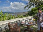 Breakfast by the Sea at Villa Arika