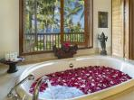 Villa Arika (Upstairs) Master - Bath Tub with a Million Dollar View!!