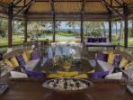 Wantilan (Open Air) Living Room at Villa Arika