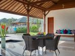 Pandawa Cliff Estate - Villa Rose - Open air seating