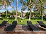 The Ylang Ylang - Beach chairs looking towards the villa