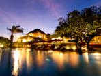 Sanur Residence - The villa at night